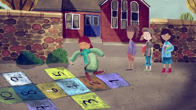 Kinder auf dem Pausenplatz.
