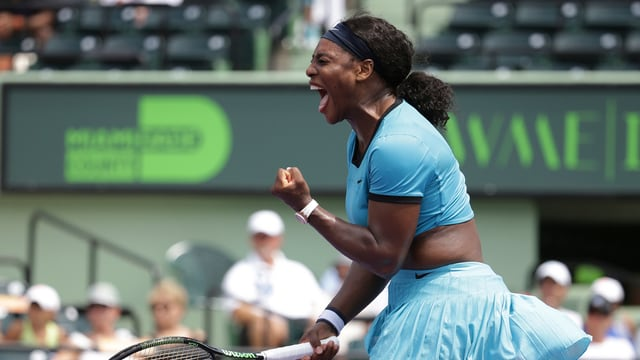 Serena Williams suenter in gieu a Key Biskayne