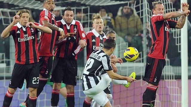 Sebastian Giovinco traf für Juventus mittels Freistoss.