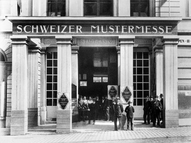 Eröffnung der ersten Mustermesse im Jahr 1917.