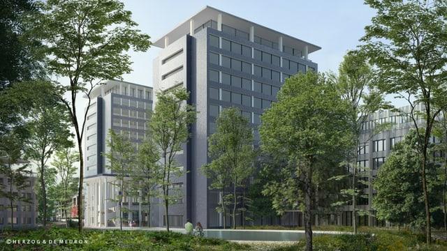 Nov campus da l'assicuranza Helvetia a Basilea.