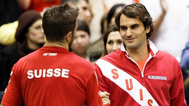Roger Federer und Stanislas Wawrinka sollen die Schweiz zum Sieg gegen Kasachstan führen.