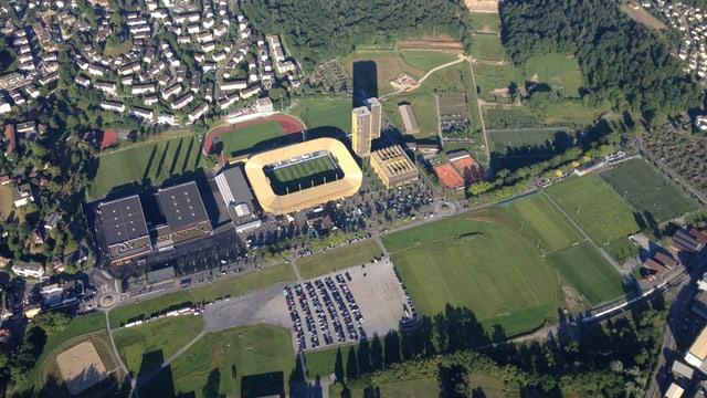 Luftaufnahme der Luzerner Allmend