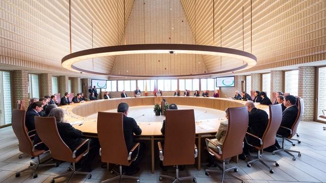 Sitzungskreis im Landtag