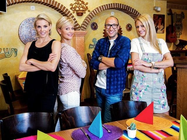 Sänger Kunz, Schauspielerin Sabina Schneebeli, Bandleader Pepe Lienhard und Schlangenfrau Nina Burri zeigen im Prominenten-Spezial von «Mini Beiz, dini Beiz» ihre Lieblingsrestaurants.