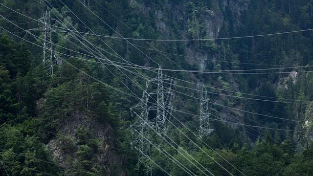 lingias d'electricitad tranter ils culms