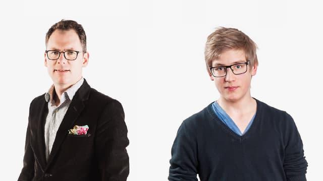 Porträt von Christian Thalmann und Elias Züst
