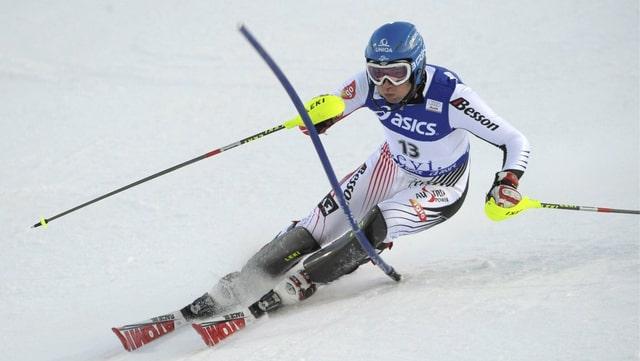 Il victur olimpic e campiun mundial Benjamin Raich chala.