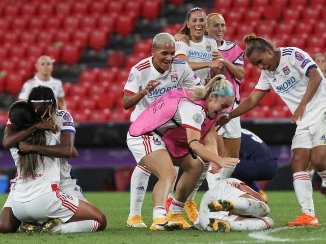 Die Spielerinnen von Olympique Lyon.