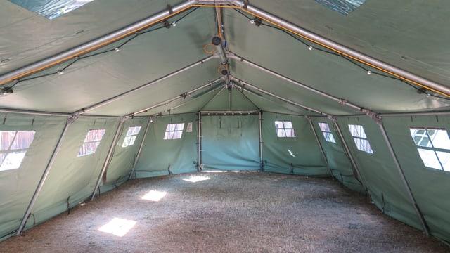 Armeezelt für Asylbewerber