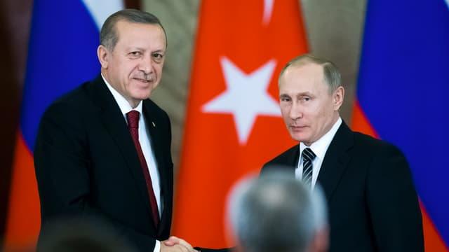 Putin und Erdogan im Kreml, März 2017