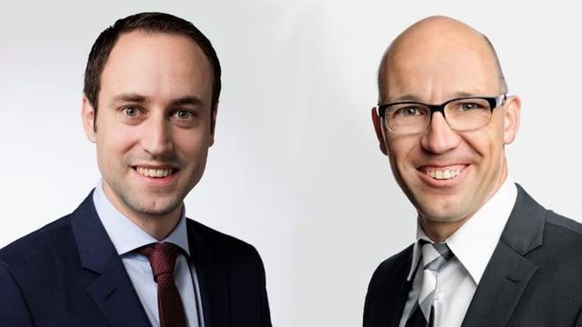 Christian Wasserfallen (FDP) und Stefan Müller Altermatt (CVP).