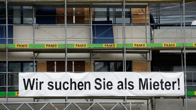 Baustelle einer Wohnsiedlung in Zürich