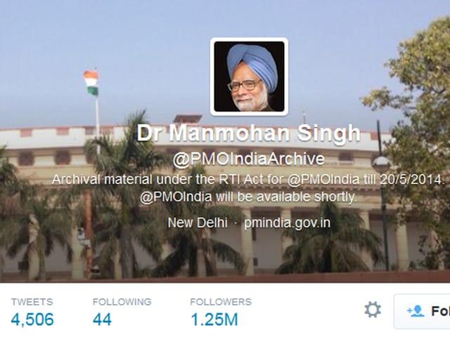 Konto @PMOIndiaArchive