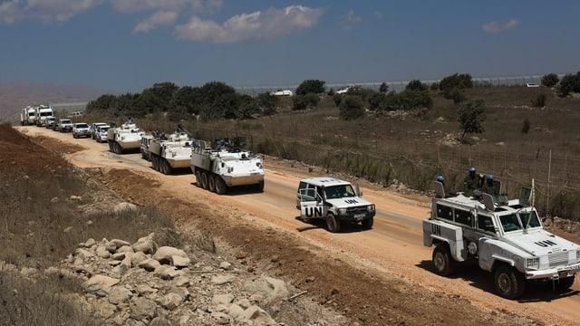 UNO-Truppenkonvoi im Golan