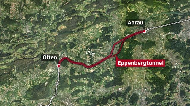 Karte Eppenbergtunnel