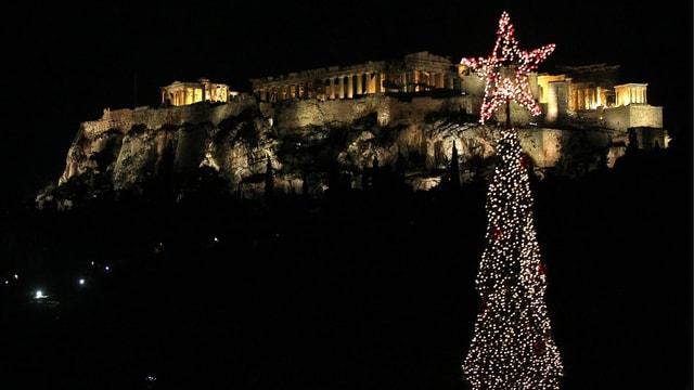 Akropolis & Weihnachtsbaum