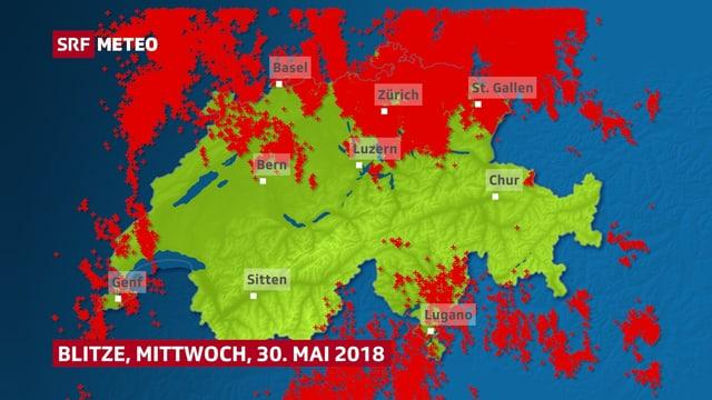 Karte mit Punkten
