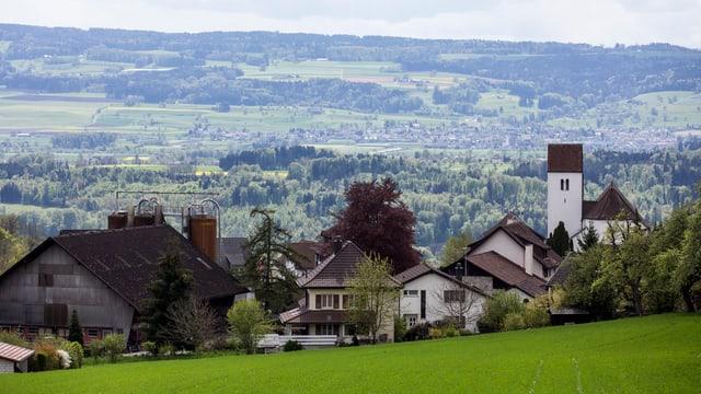 Häuser der Gemeinde Oberwil-Lieli