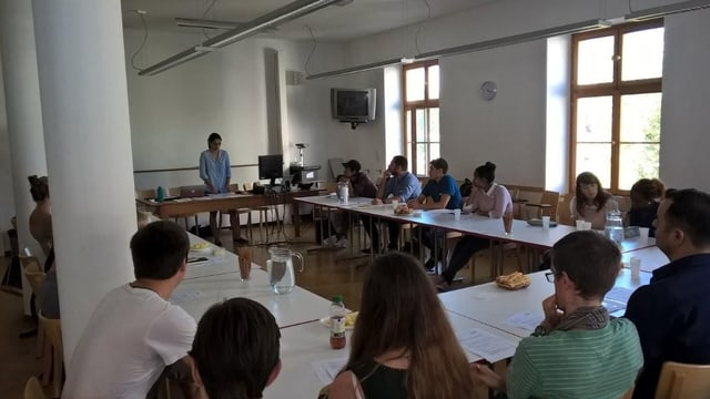 Infoanlass des Flüchtlingsprojekts an der Universität Basel.