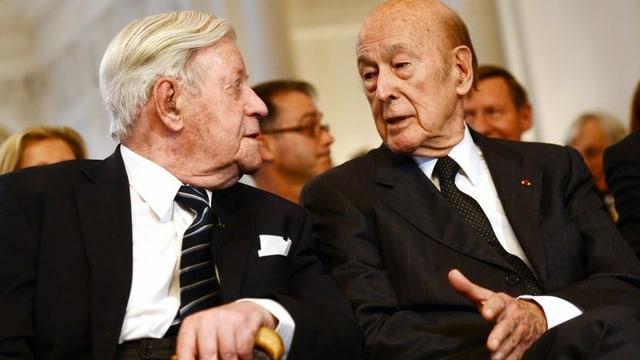 Schmidt und D'Estaing.