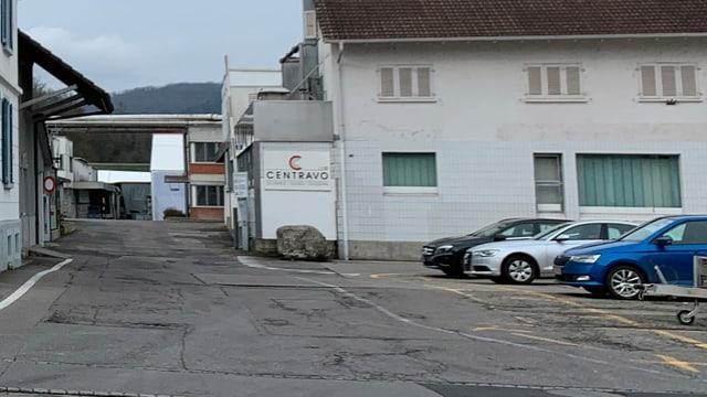 Eingang zum Gelände der Centravo in Othmarsingen.
