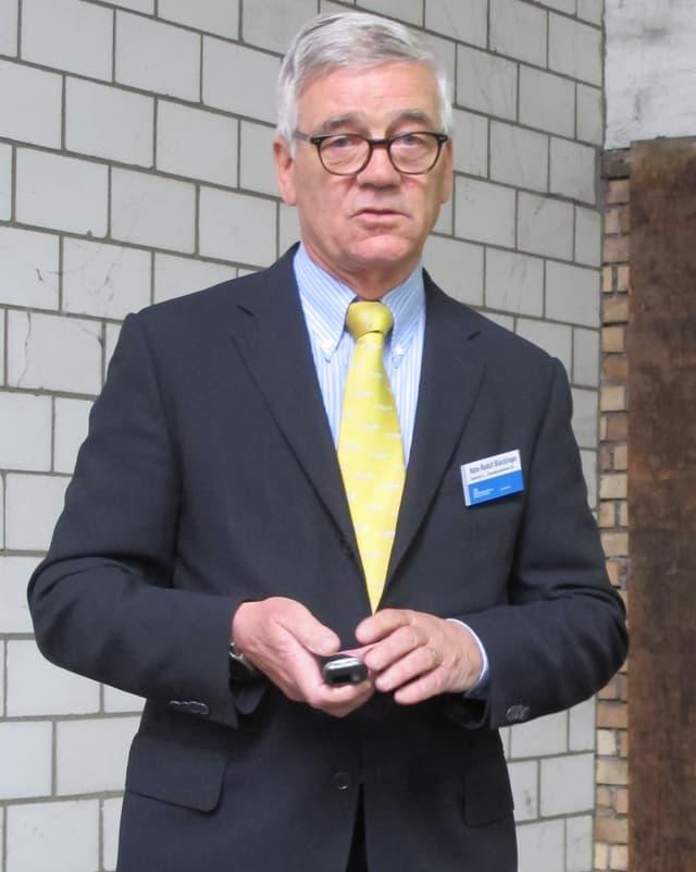 Hans-Rudolf Blöchlinger, Projektleiter für den Bau des PJZ.