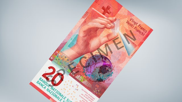 La bancnota nova da 20 francs.