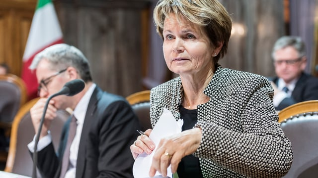 Brigitte Häberli im Ständerat.