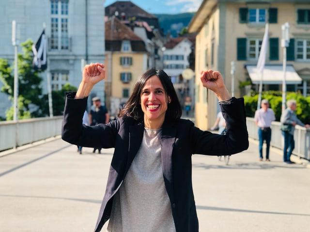 Annette König freut sich darüber, dass die Solothurner Literaturtage eröffnet sind