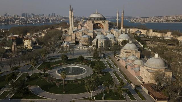 Luftaufnahme der Hagia Sophia.