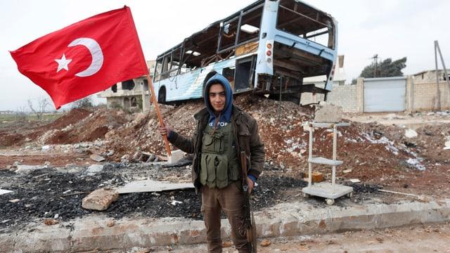 Ein Soldat der Freien Syrischen Armee.