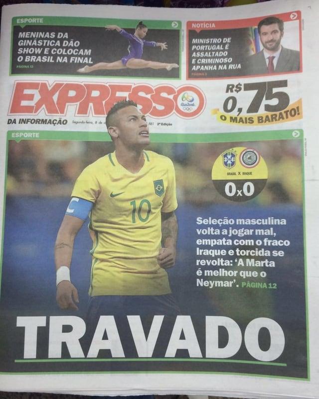 So titelt eine brasilianische Zeitung.