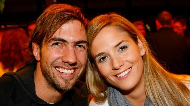Manu Burkart von Cabaret Divertimento mit seiner Frau.