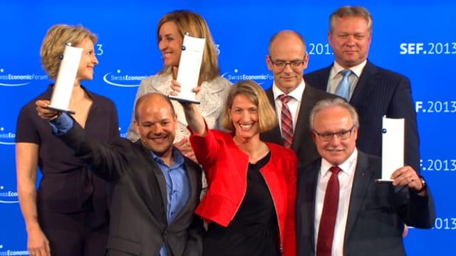 Die Gewinner des Swiss Economic Forum Award.