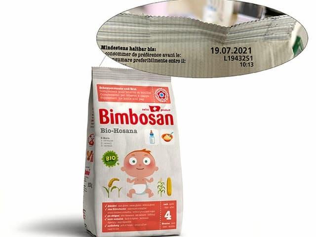 Verpackung Babynahrung