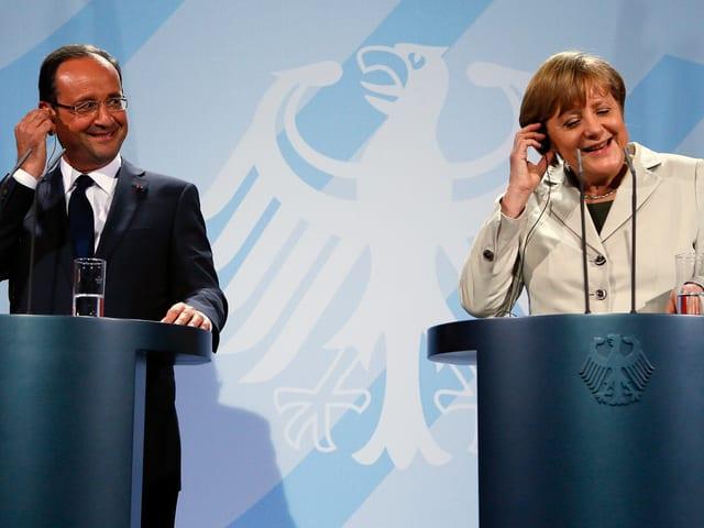 François Hollande und Angela Merkel