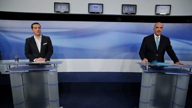 Alexis Tsipras ed Evangelos Meimarakis.