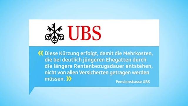 Stellungnahme UBS-Pensionskasse