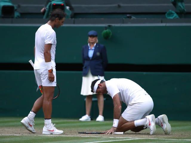 Nadal und Del Potro nach ihrem Spiel