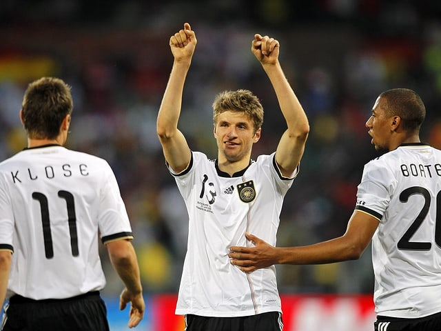 Thomas Müller bei dem WM 2010.
