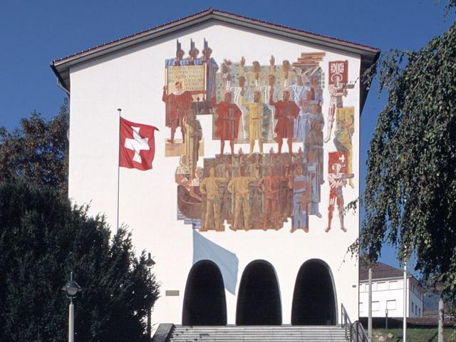 Wandmalerei Bundesbriefarchiv Schwyz