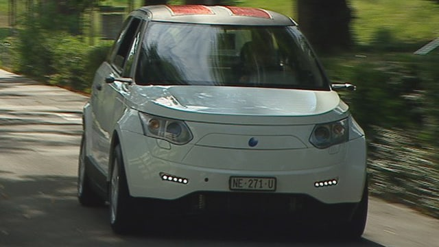Ein Brennstoffzellen-Auto