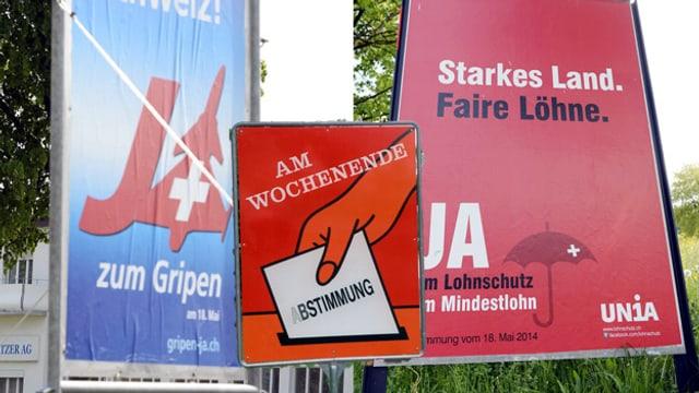 Wahlplakate (Fotomontage)