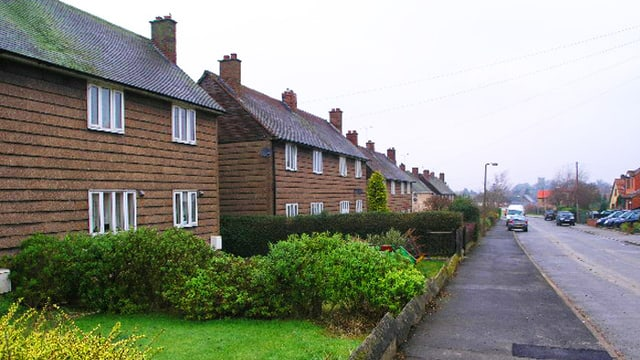 Eine Wohnstrasse in Rotherham.