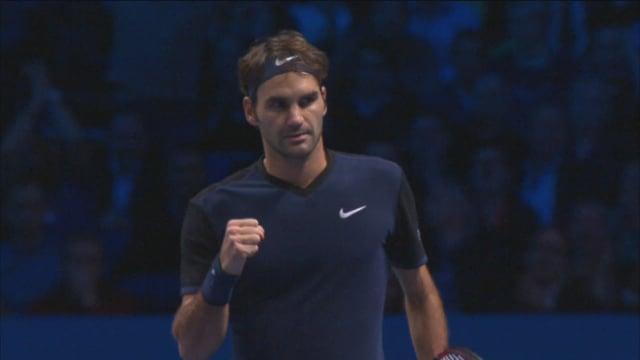 Federer jubelt