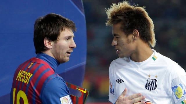 Neymar (r.) wird mit Lionel Messi die gegnerischen Defensiven wohl gehörig durcheinander wirbeln.