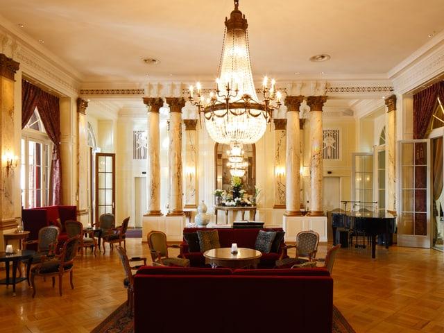 Die Eingangshalle des Hotels