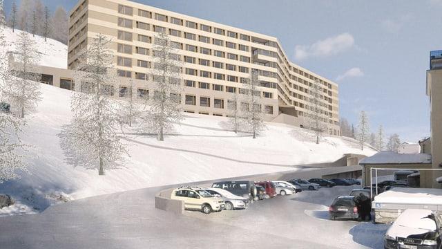 Visualisierung des geplanten Pflegezentrums