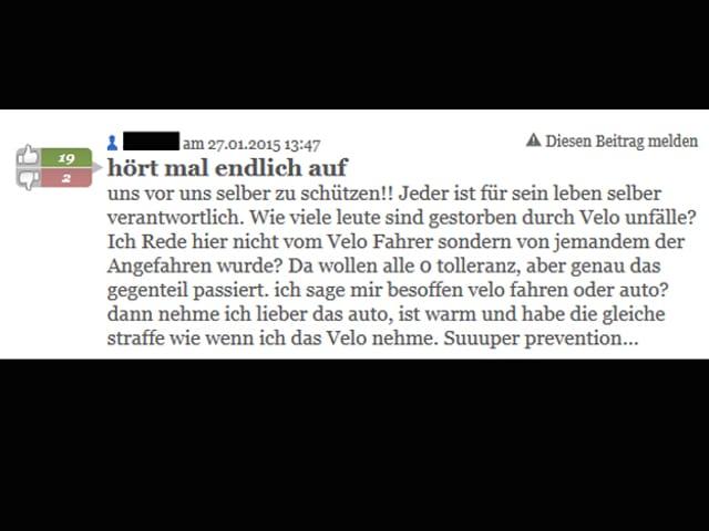 Leserkommentar aus dem Internet mit Rechtschreibfehler